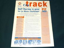 GULF McLAREN F1 GTR 1995 ON TRACK info sheet - #9 Monthlery report/Le Mans preview
